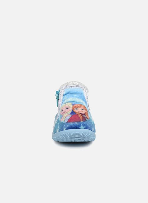 Chaussons Frozen Sergine Bleu vue portées chaussures