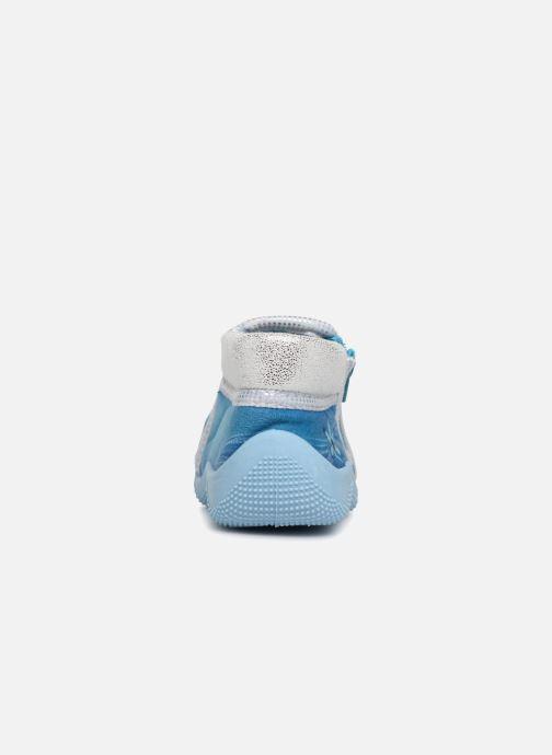 Chaussons Frozen Sergine Bleu vue droite