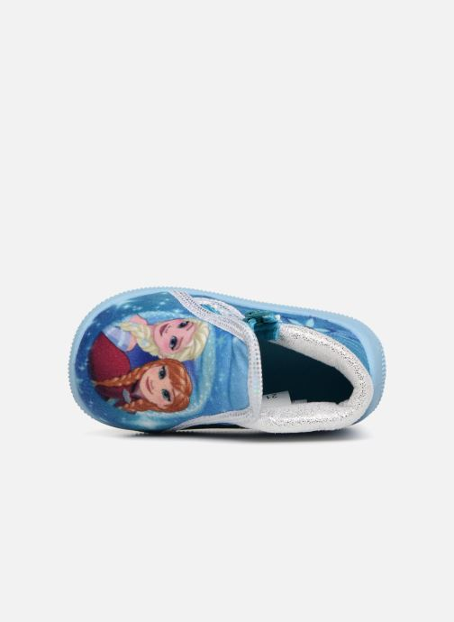 Pantuflas Frozen Sergine Azul vista lateral izquierda