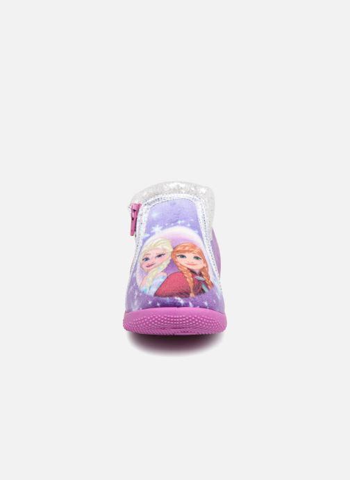 Hausschuhe Frozen Sergine lila schuhe getragen