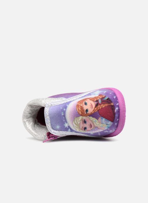 Pantuflas Frozen Sergine Violeta      vista lateral izquierda