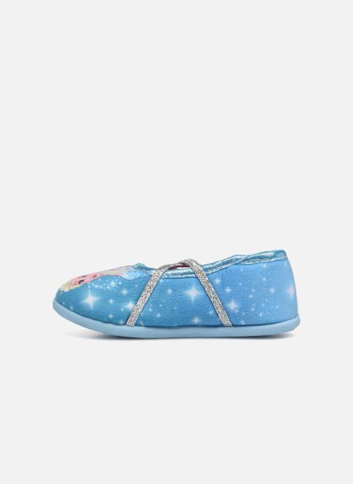 Pantuflas Frozen Septante Azul vista de frente