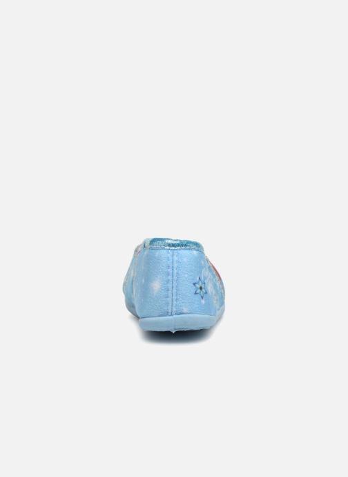 Hausschuhe Frozen Septante blau ansicht von rechts