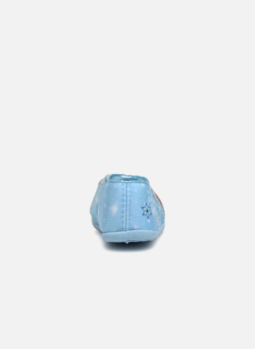 Pantuflas Frozen Septante Azul vista lateral derecha