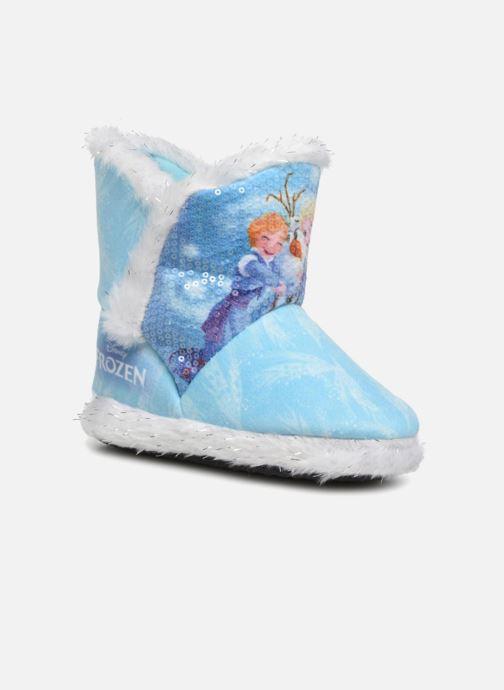 Hjemmesko Frozen Sabeline Blå detaljeret billede af skoene
