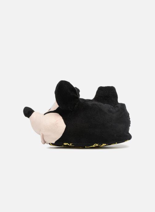 Pantuflas Mickey Mouse Sini Negro vista de frente