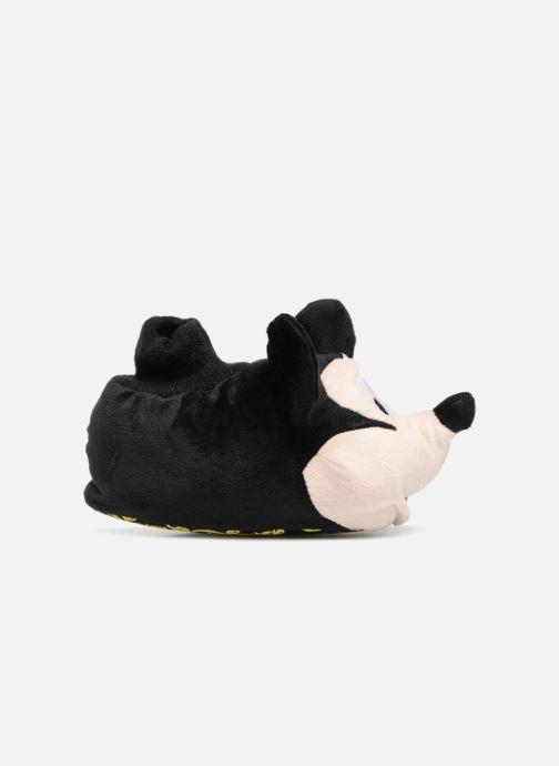 Pantuflas Mickey Mouse Sini Negro vistra trasera