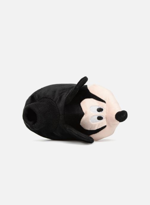 Hausschuhe Mickey Mouse Sini schwarz ansicht von links
