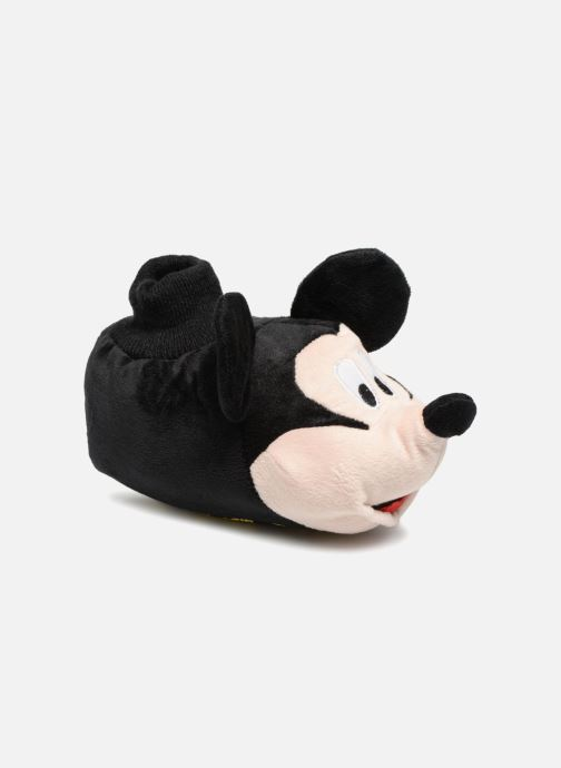 Pantuflas Mickey Mouse Sini Negro vista de detalle / par