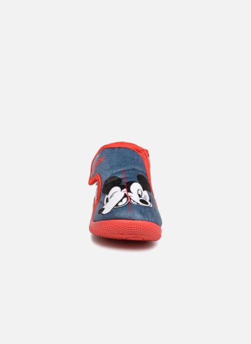 Chaussons Mickey Siata Bleu vue portées chaussures
