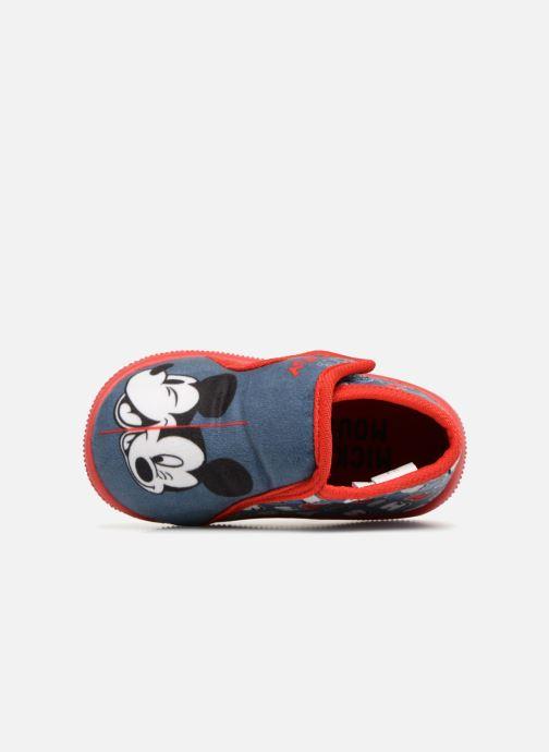 Hausschuhe Mickey Mouse Siata blau ansicht von links