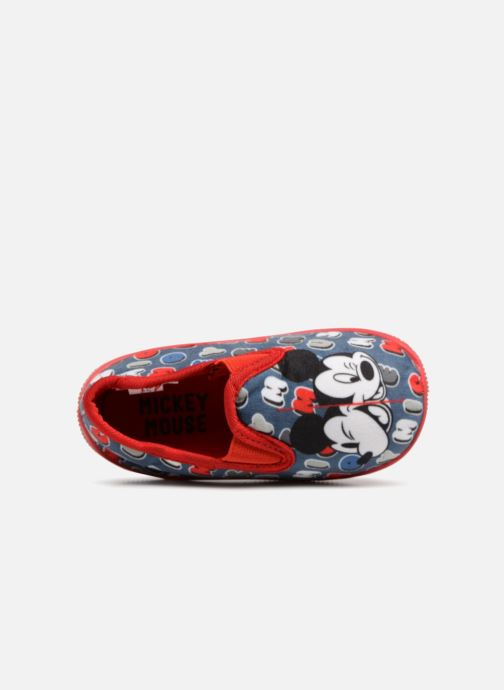 Slippers Mickey Sabal Blue view from the left