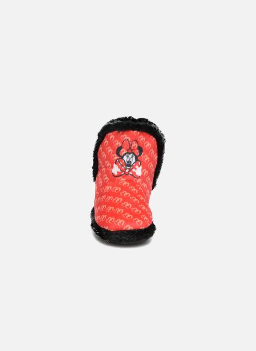 Pantofole Minnie Simone Rosso modello indossato