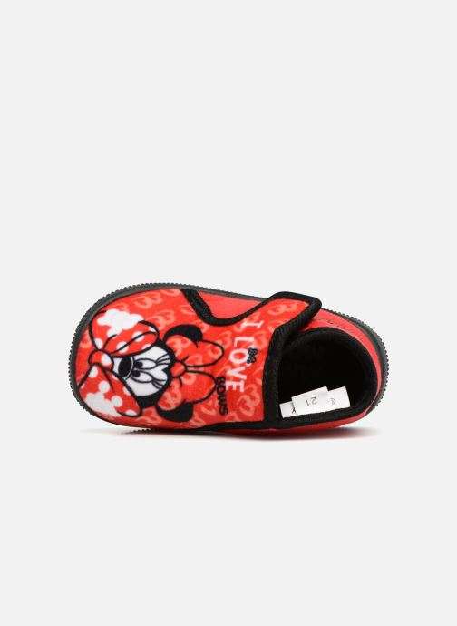 Slippers Minnie Siata Red view from the left