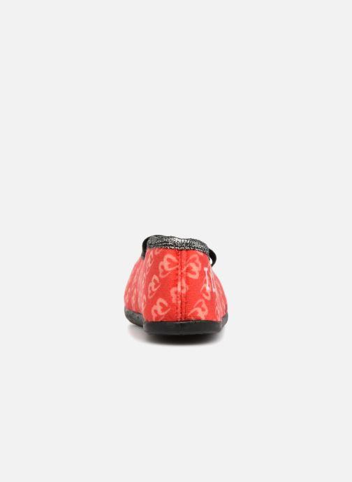 Hausschuhe Minnie Sabal rot ansicht von rechts