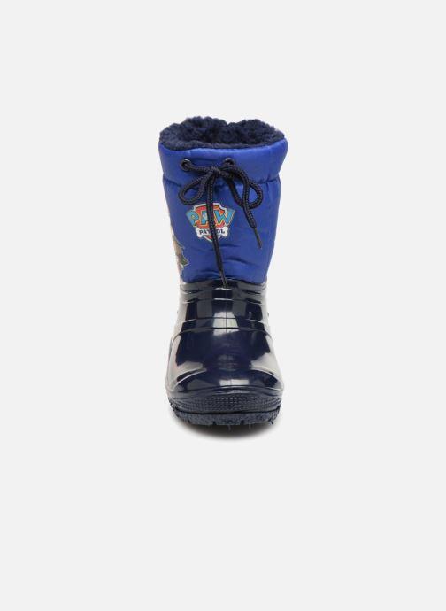 Chaussures de sport Pat Patrouille Scratch Bleu vue portées chaussures