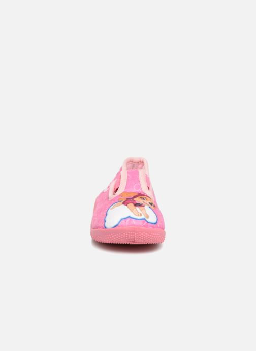 Chaussons Pat Patrouille Serba Girl Rose vue portées chaussures