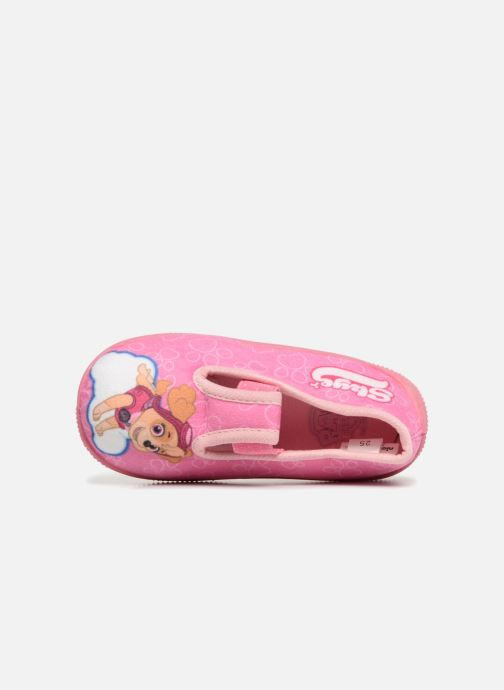 Chaussons Pat Patrouille Serba Girl Rose vue gauche