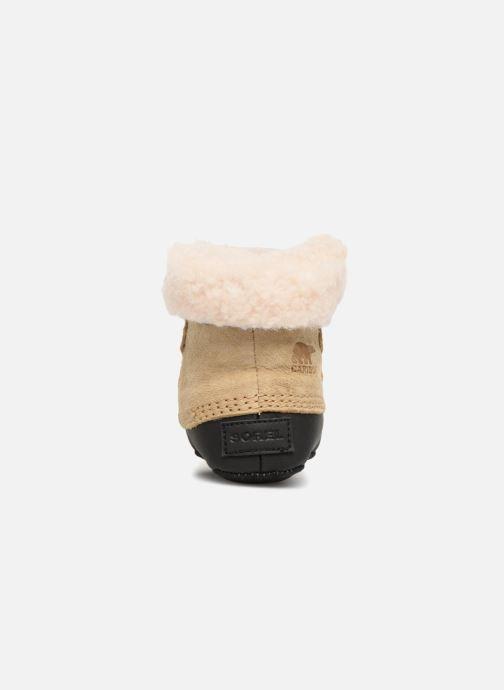 Pantuflas Sorel Caribootie Beige vista lateral derecha