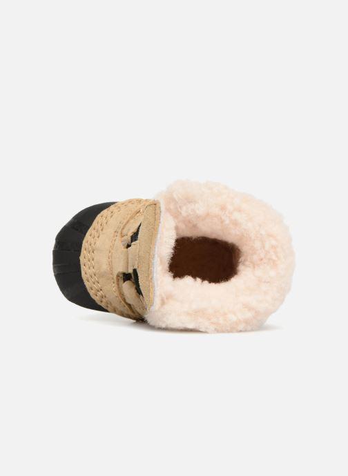 Pantofole Sorel Caribootie Beige immagine sinistra