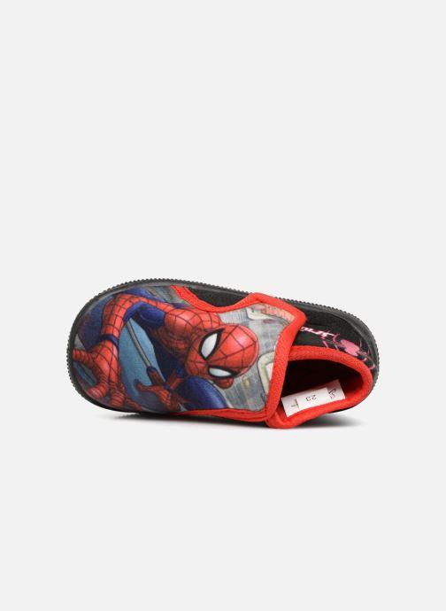 Pantuflas Spiderman Sabir Negro vista lateral izquierda