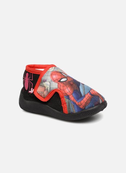 Pantuflas Spiderman Sabir Negro vista de detalle / par