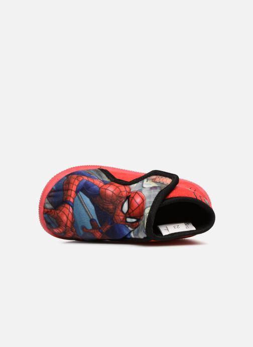 Pantuflas Spiderman Sabir Rojo vista lateral izquierda