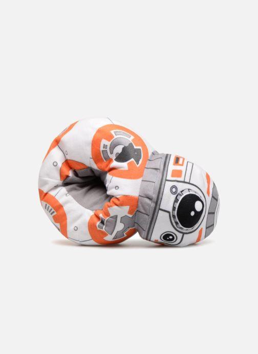 Pantuflas Star Wars Symphorien Blanco vista lateral izquierda