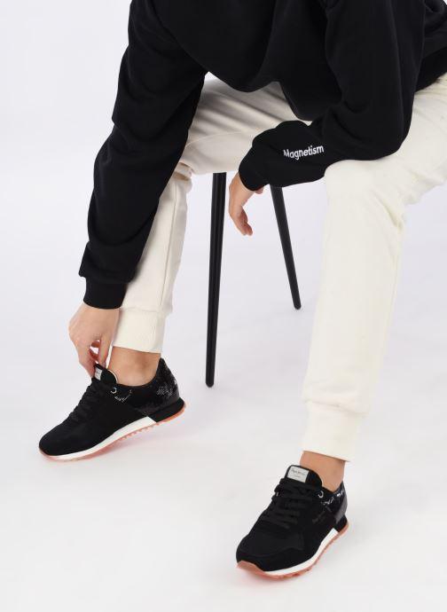 Baskets Pepe jeans VERONA W NEW SEQUINS 2 Noir vue bas / vue portée sac