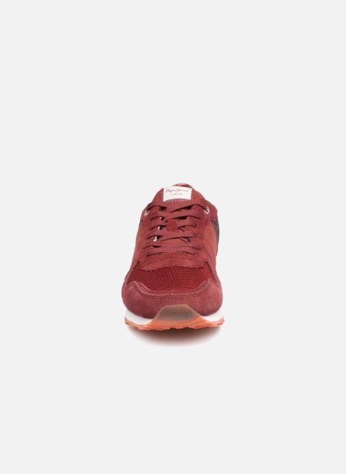 Baskets Pepe jeans Verona W Full Sequins Bordeaux vue portées chaussures