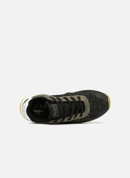 Trainers Pepe jeans KOKO SAND Black view from the left