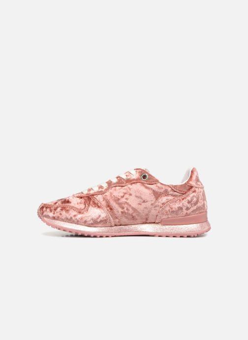 Sneaker Pepe jeans GABLE VELVET rosa ansicht von vorne