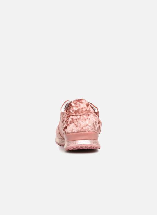 Sneaker Pepe jeans GABLE VELVET rosa ansicht von rechts