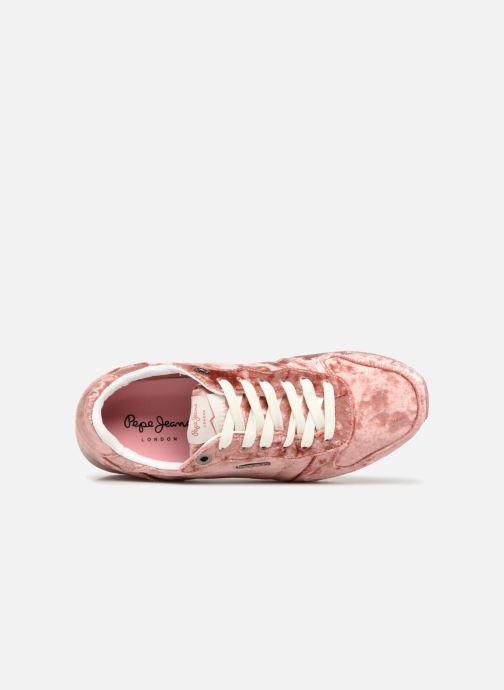 Sneakers Pepe jeans GABLE VELVET Rosa immagine sinistra
