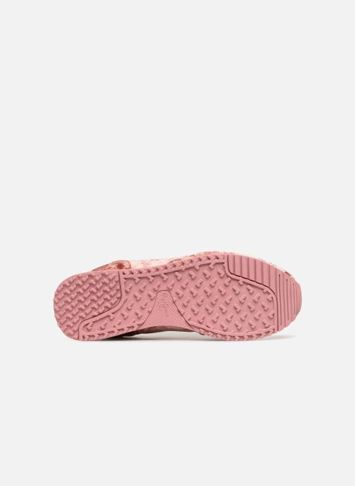Baskets Pepe jeans GABLE VELVET Rose vue haut
