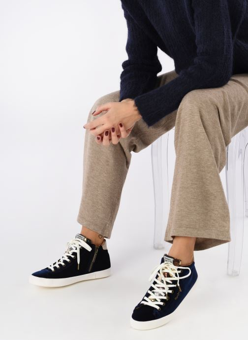 Deportivas Pepe jeans STARK SEQUINS Azul vista de abajo