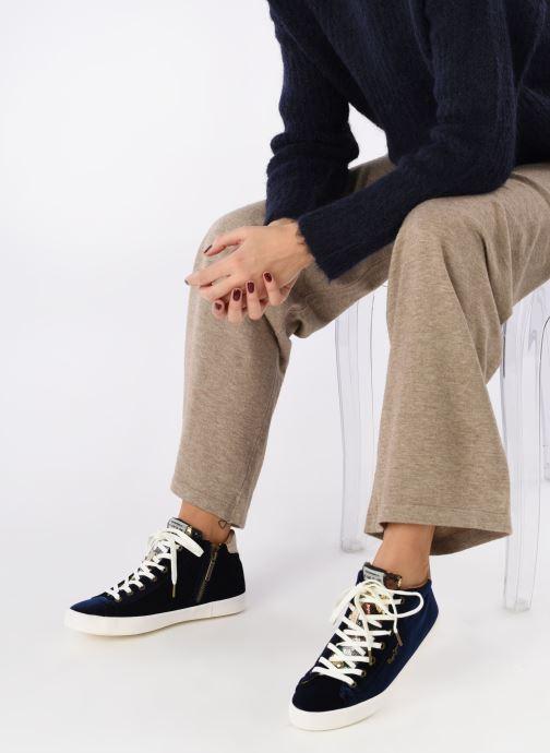 Baskets Pepe jeans STARK SEQUINS Bleu vue bas / vue portée sac