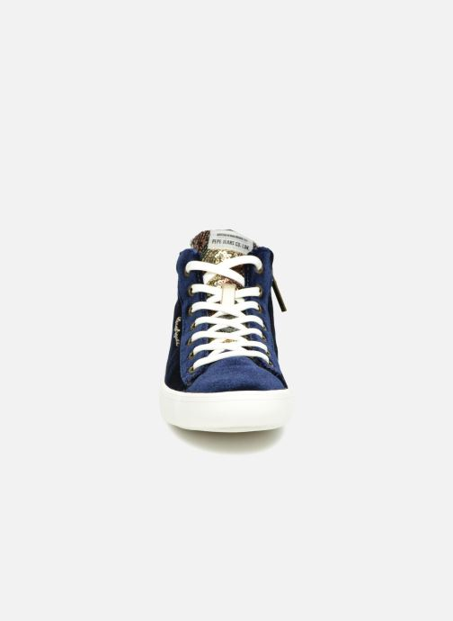 Deportivas Pepe jeans STARK SEQUINS Azul vista del modelo