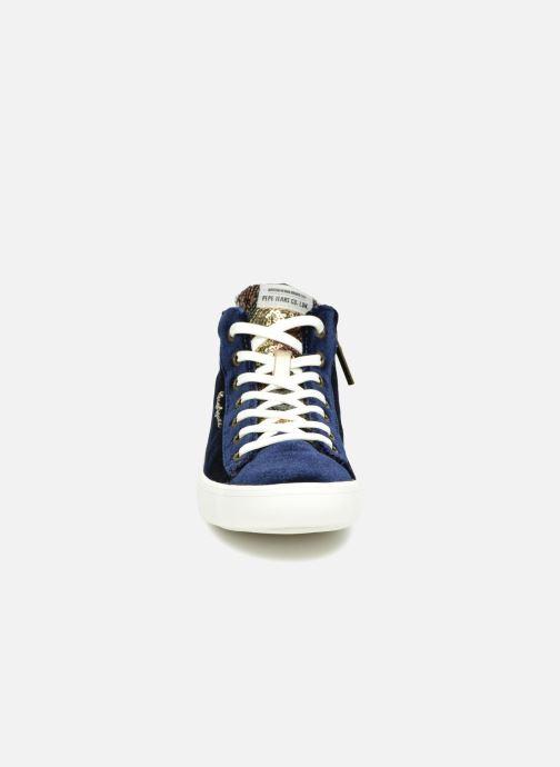 Baskets Pepe jeans STARK SEQUINS Bleu vue portées chaussures