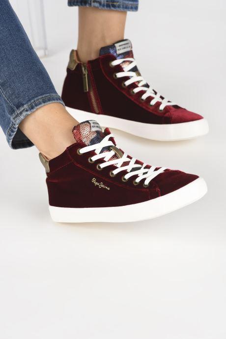 Pepe jeans STARK SEQUINS (Bordeaux) - Baskets (332624)
