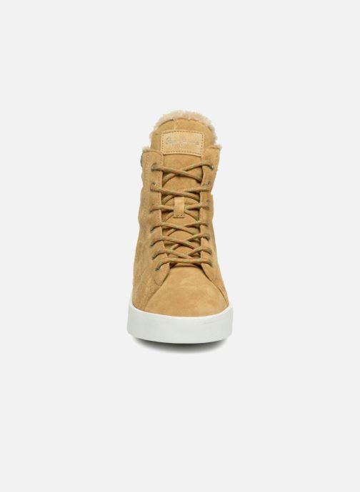 Baskets Pepe jeans BRIXTON GOOSE Beige vue portées chaussures