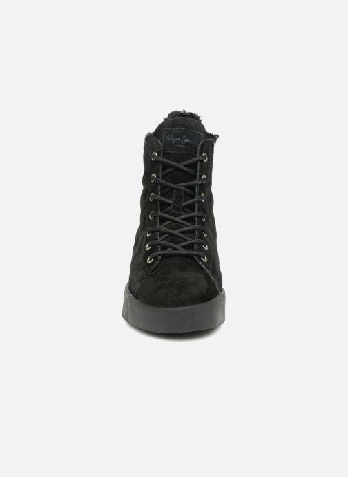 Baskets Pepe jeans BRIXTON GOOSE Noir vue portées chaussures