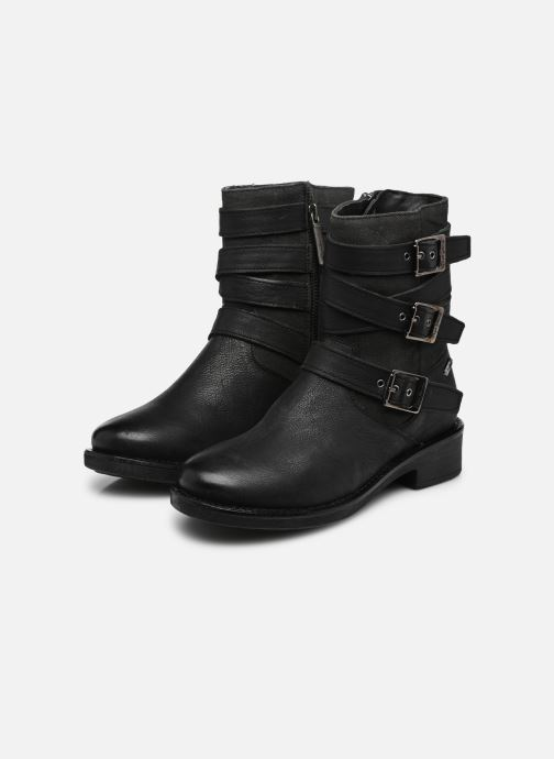 Ankle boots Pepe jeans MADDOX STRAPS Black view from underneath / model view