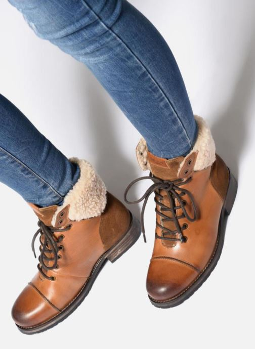 Bottines et boots Pepe jeans MELTING WARM Marron vue bas / vue portée sac