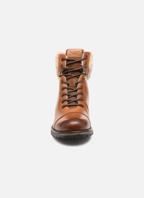Bottines et boots Pepe jeans MELTING WARM Marron vue portées chaussures