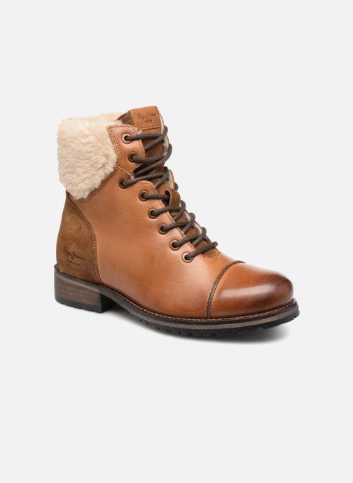 Bottines et boots Pepe jeans MELTING WARM Marron vue détail/paire