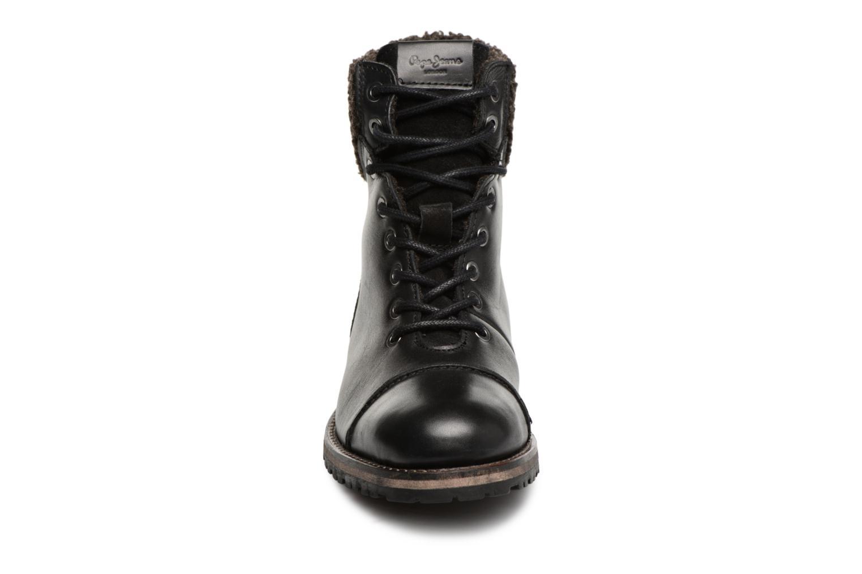 Bottines et boots Pepe jeans MELTING WARM Noir vue portées chaussures