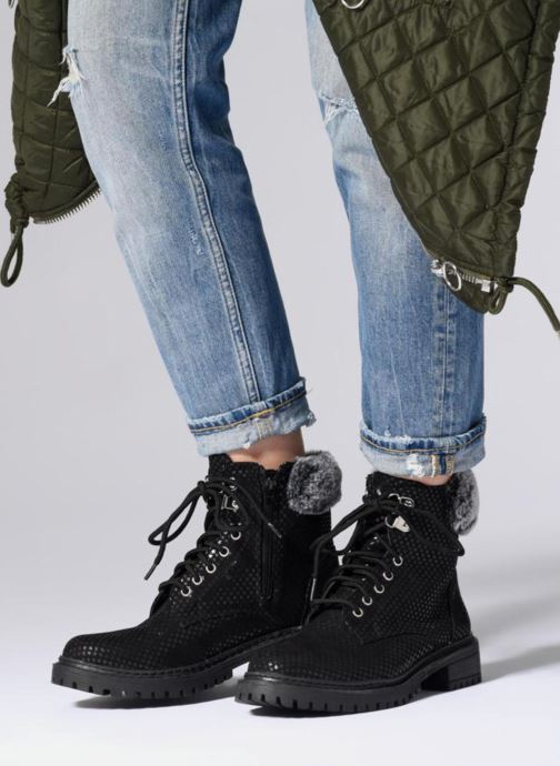 Ankle boots Pepe jeans COLLIE SKY Black view from underneath / model view