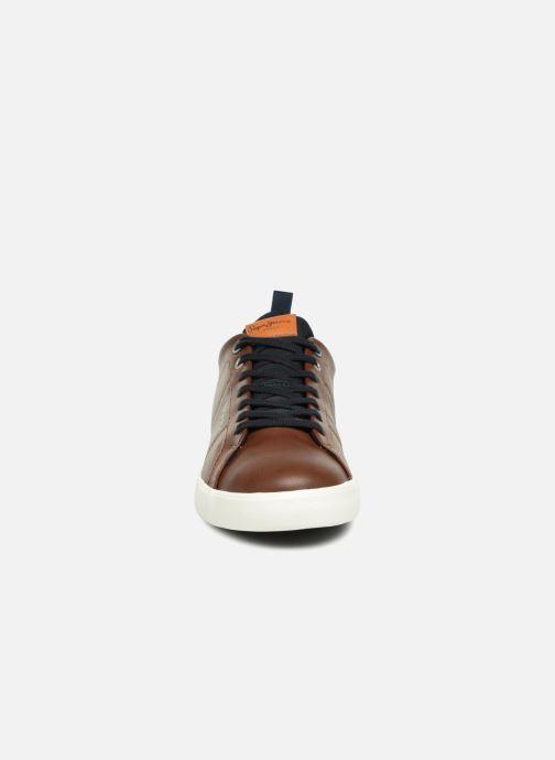 Baskets Pepe jeans MARTON BASIC Marron vue portées chaussures