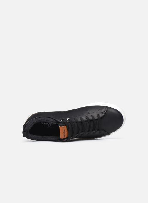 Sneaker Pepe jeans MARTON BASIC schwarz ansicht von links